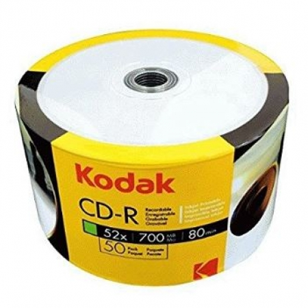 Kodak CD-R 52x 700/80min Inkjet fullsurface-Printable Shrink 50/1