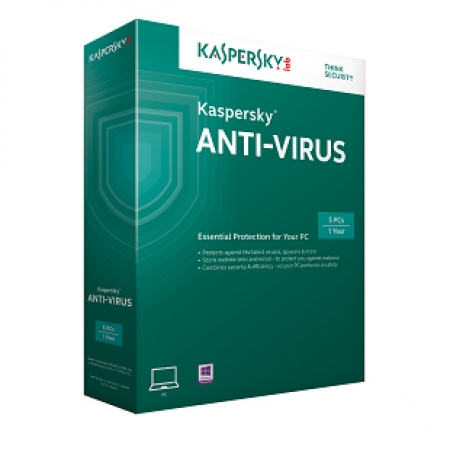 Kaspersky AntiVirus 2015 Retail 1user/1year Renewal