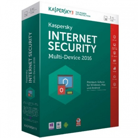 Kaspersky Internet Security 2016 MD Retail 1user/1year + 1 Licenca Gratis