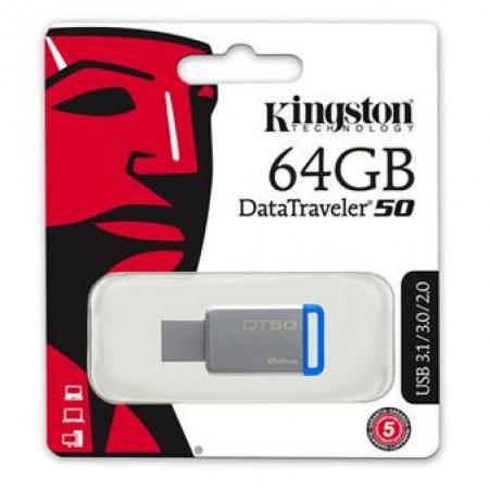 Kingston USB Memorija DT50 64GB USB 3.1
