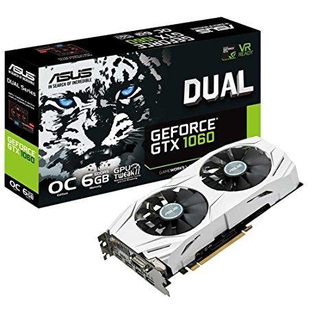 ASUS NVIDIA GeForce DUAL-GTX1060-6G