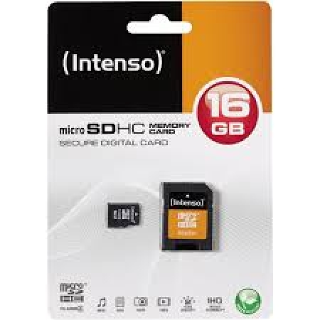 Intenso Micro SDHC Memory Card 16GB Class 4