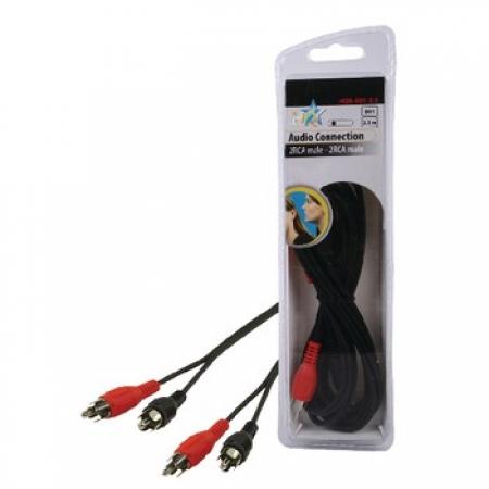 Kabl AUDIO 2x cinch - 2x cinch M/M 2.5M HQB-001-2.5