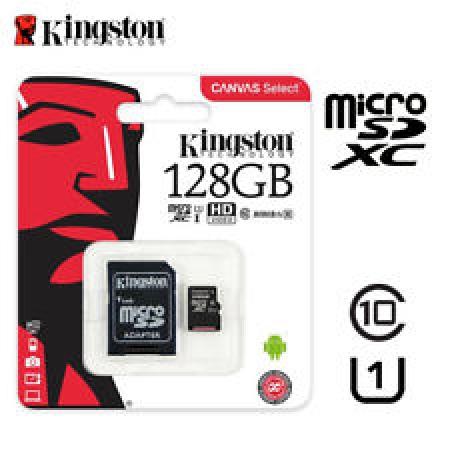 Kingston Micro SDXC Canvas Memory Card 128GB Class10