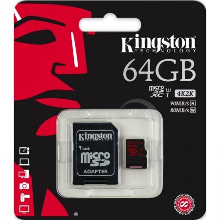 Kingston Micro SDXC Memory Card 64GB Class10