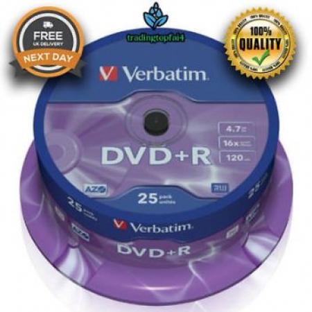 Verbatim DVD+R Double Layer 8.5GB Matt Silver Surface 25/1