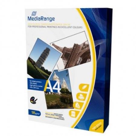 MediaRange Papir DIN A4 inkjet (Glossy podloga), 135g 100/1 - MRINK107