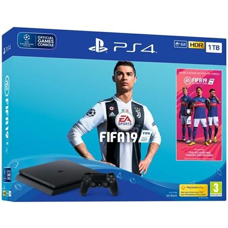 Playstation 4 1TB Slim E chassis + Fifa 19 + 14 Dana PS Plus