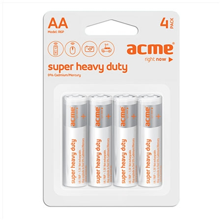 ACME Baterije AA Super Heavy Duty R6 4KOM