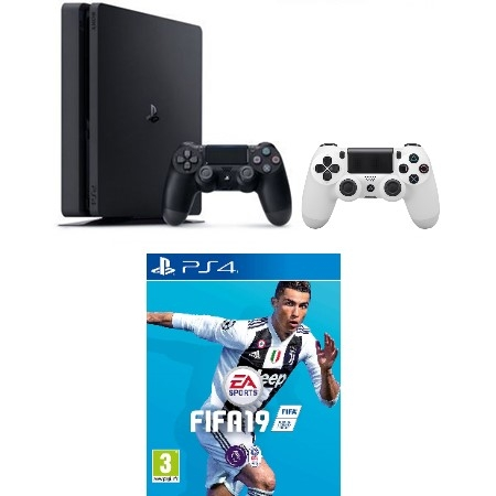 Konzola Playstation 4 500GB + Dualshock 4 kontroler V2 White + Fifa 19