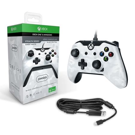 PDP Wired Controller for Xbox One / PC- White Camo