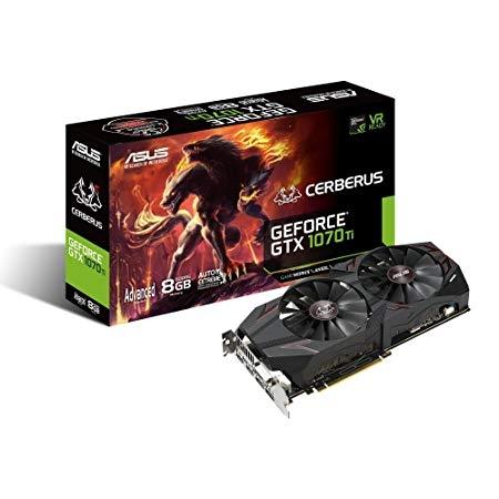 ASUS Nvidia GeForce Cerberus GTX 1070 Ti 8GB