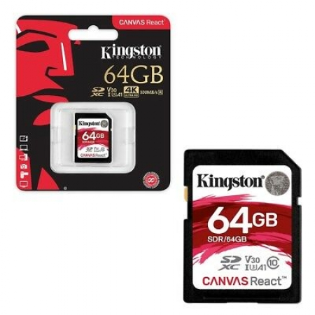 Kingston SD Canvas React Memory Card 64GB Class10