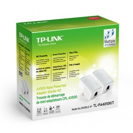TP-Link TL-PA4010KIT Nano Powerline Adapter Kit 600Mbps