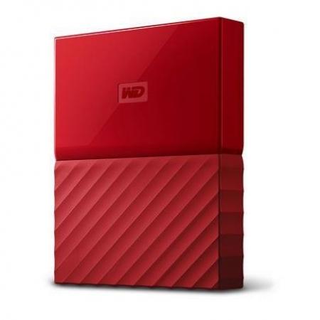 "WD 1TB External HDD My Passport 2.5"" USB 3.0 Red"