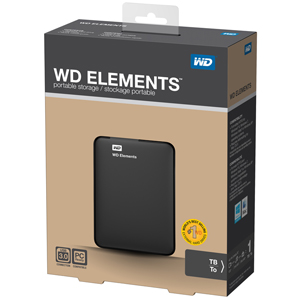 "WD 1TB External HDD Elements Portable 2.5"" USB 3.0"